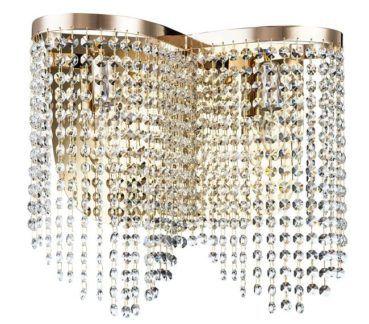 Stylowy kinkiet Tois - Maytoni - złoty, kryształki