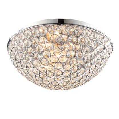 Stylowy plafon Chryla - Endon Lighting - chrom, szkło