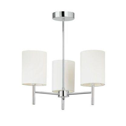 Stylowy żyrandol Brio - Endon Lighting - srebrny, biały