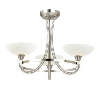 Stylowy żyrandol Cagney - Endon Lighting - 3 żarówki - chrom, szkło