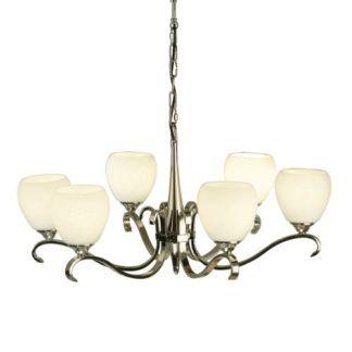 Stylowy żyrandol Columbia - Interiors - szkło, srebrny