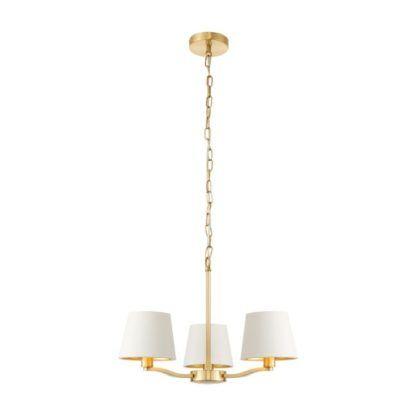 Stylowy żyrandol Harvey - Endon Lighting - 3 żarówki - złoty, biały
