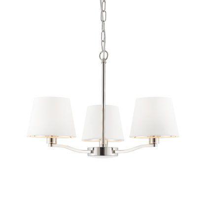 Stylowy żyrandol Harvey - Endon Lighting - 3 żarówki - srebrny, biały