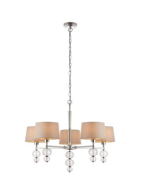 Stylowy żyrandol Darlaston - Interiors - beżowy - szkło