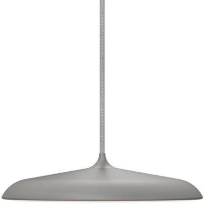 Szara lampa wisząca Artist - DFTP - Nordlux - płaski klosz