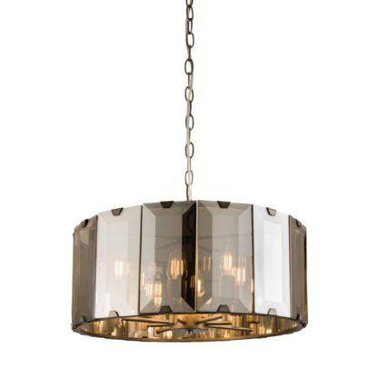 Szklana lampa wisząca Clooney - Endon Lighting - szara