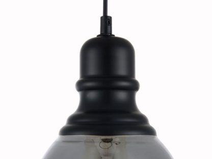 szara lampa z żarówką edisona