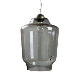 Szklana lampa wisząca Gie El Home - duża - szara
