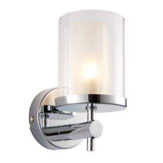 Szklany kinkiet Britton - Endon Lighting - chrom