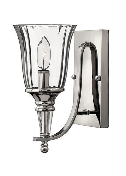 Szklany kinkiet Imperial - Ardant Decor - srebrny