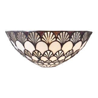 Szklany kinkiet Missori - Interiors - beżowy, brązowy