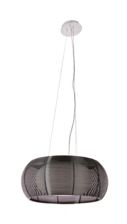 Lampa wisząca - Tango - Zuma Line - aluminium, szkło - czarna
