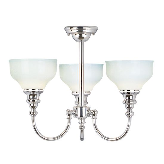 Trzyramienna lampa łazienkowa Emily srebrna