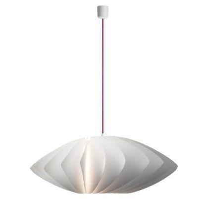 biała lampa w nowoczesnym stylu, oryginalny klosz