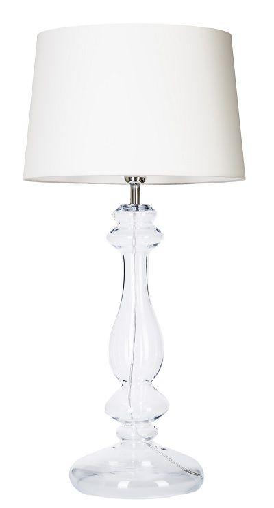 Lampa stołowa - Versailles Transparent 4concepts - biała