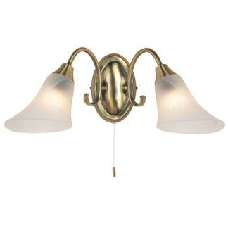Złoty kinkiet Hardwick - Endon Lighting - szklane klosze