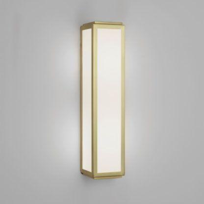 Złoty kinkiet Mashiko Classic - Astro Lighting - szklany IP44