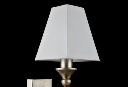 Złoty kinkiet Rive Gauche - Maytoni - biały abażur