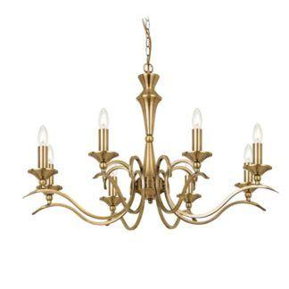 Złoty żyrandol Kora - Endon Lighting - 8 żarówek