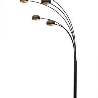 Lampa podłogowa - Zodiac Branca - Zuma Line - metal - czarna