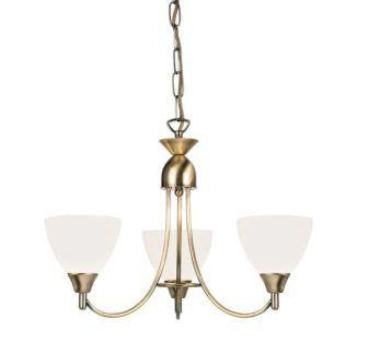 Żyrandol Alton - Endon Lighting - 3 żarówki - szklany, złoty