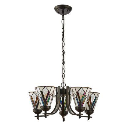 Żyrandol Astoria - Interiors - kolorowe szkło