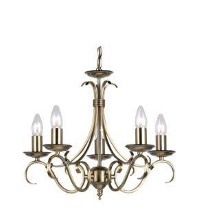 Żyrandol Bernice - Endon Lighting - 5 żarówek - złoty
