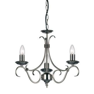 Żyrandol Bernice - Endon Lighting - 3 żarówki - srebrny