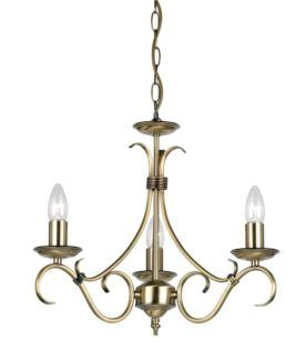 Żyrandol Bernice - Endon Lighting - 3 żarówki - złoty