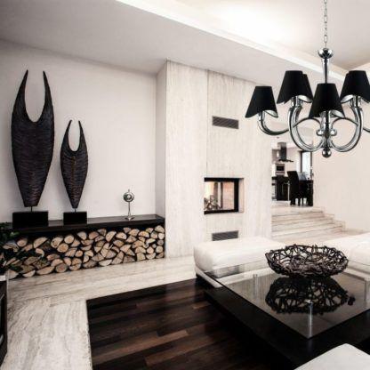 Żyrandol Boscage - Maytoni - srebrny, czarny