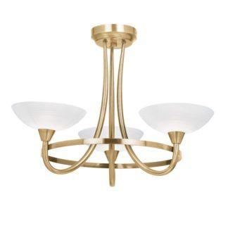 Żyrandol Cagney - Endon Lighting - 3 żarówki - złoty, szkło