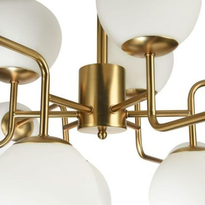 Lampa wisząca w kolorze złota i bieli