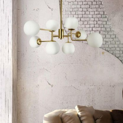Żyrandol Erich - Maytoni - 8 żarówek - złoty, biały