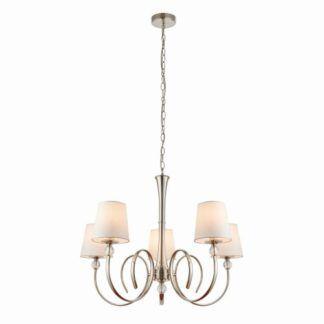 Żyrandol Fabia - Interiors - 5 żarówek - srebrny