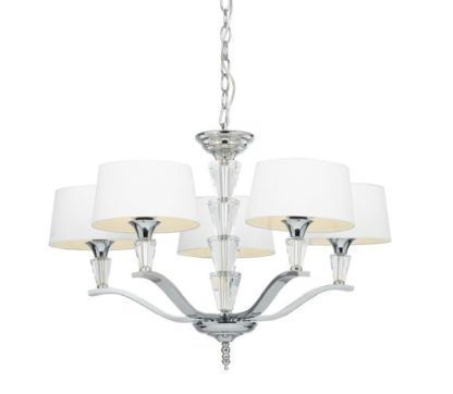 Żyrandol Fiennes - Endon Lighting - srebrny, szklany