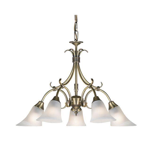 Żyrandol Hardwick - Endon Lighting - 5 żarówek - złoty