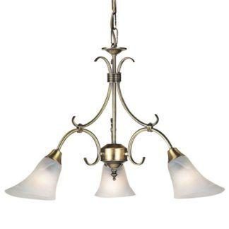 Żyrandol Hardwick - Endon Lighting - 3 żarówki - złoty