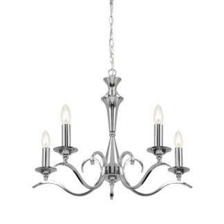 Żyrandol Kora - Endon Lighting - 5 żarówek - srebrny