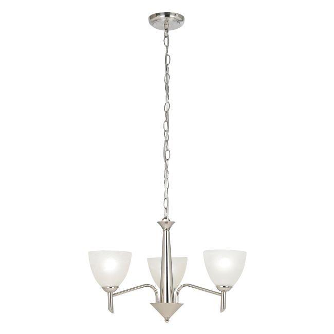 Żyrandol Nesson - Endon Lighting - 3 żarówki - srebrny
