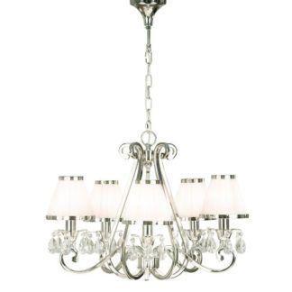 Żyrandol Oksana - Interiors - 5 żarówek - srebrny, kryształy