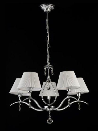 Żyrandol Talia - Maytoni - 5 żarówek - srebrny, biały