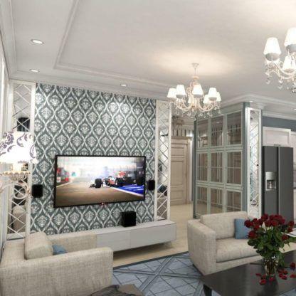 żyrandol kryształowy do salonu lub pokoju dziennego z abażurami