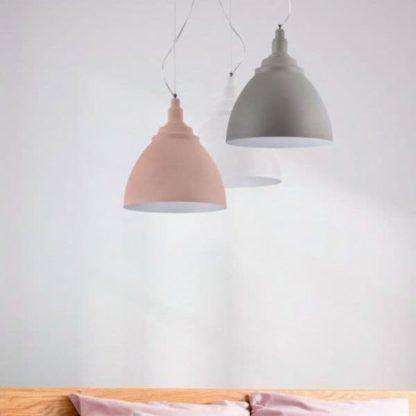 pastelowa lampa nowoczesna - aranżacja