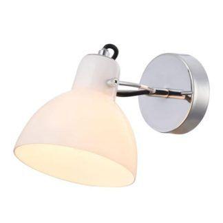 Lampa ścienna Daniel - Maytoni - biała, srebrna