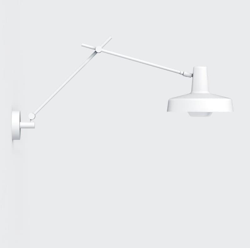 nowoczesny kinkiet biały z prostym kloszem
