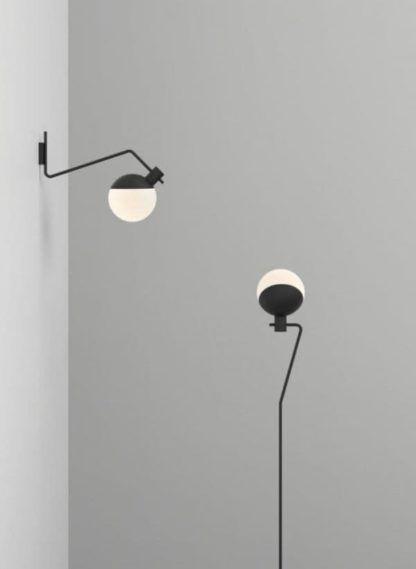 minimalistyczny kinkiet biało-czarny
