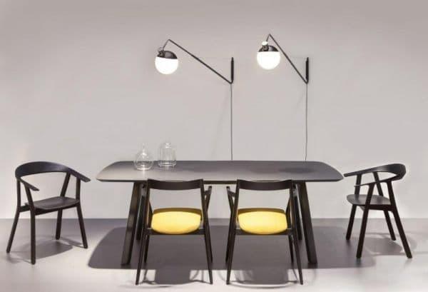 Wszystkie nowe Lampa ścienna Baluna – Grupa Products – czarno-biała kula, długie NV12