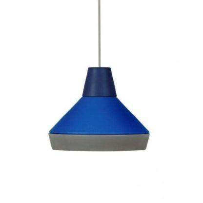 niebiesko szara lampa wisząca, nowoczesna