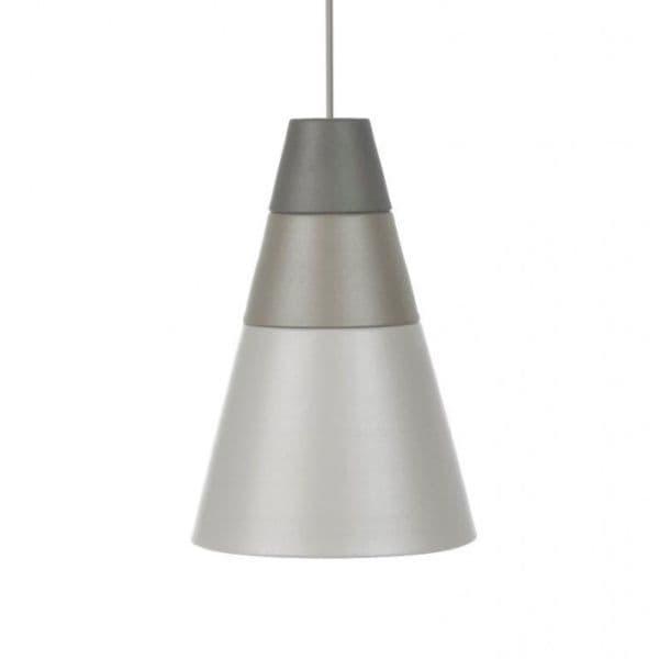 szara lampa wisząca, ombre, styl nowoczesny