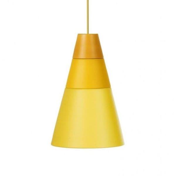 żółta lampa wisząca w stylu nowoczesnym